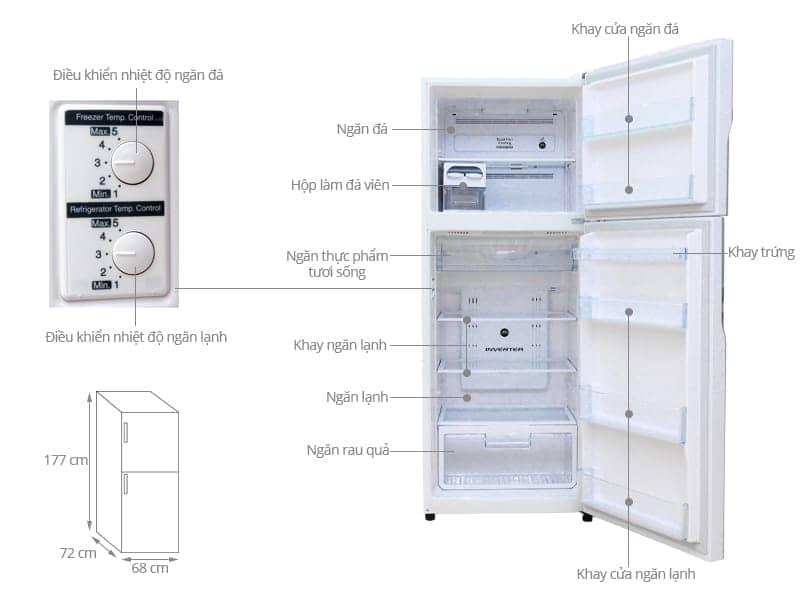 ảnh kỹ thuật tủ lạnh r-vg470pgv3-gpw