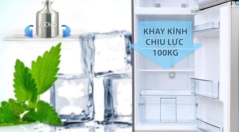 Tủ lạnh Panasonic inverter 267 lít NR-BL308PSVN Khay kính chịu lực