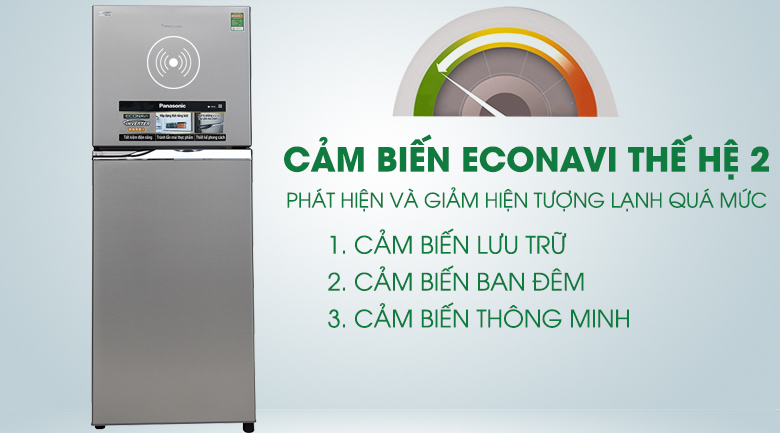 Tủ lạnh Panasonic inverter 267 lít NR-BL308PSVN Cảm biến econavi