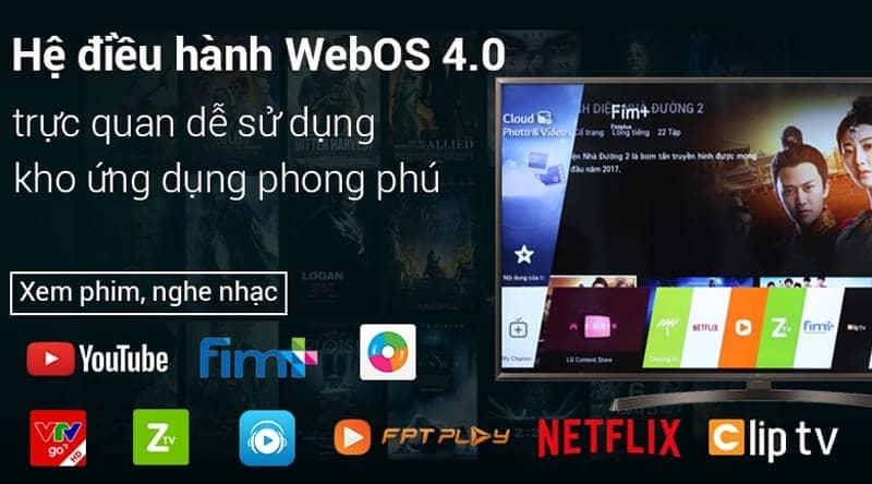 Smart Tivi LG 4K 65 inch 65UK6340PTF hệ điều hành web OS dễ sử dụng