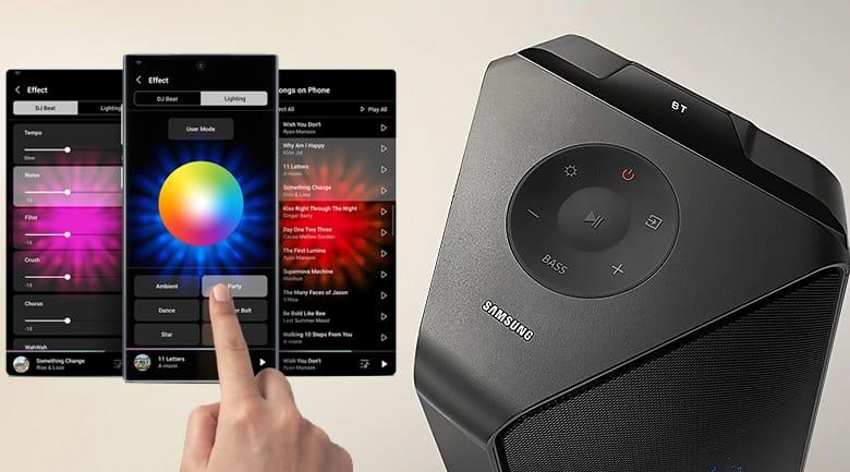 Loa Tháp Samsung MX-T50/XV – Hiệu Ứng Đèn LED DJ